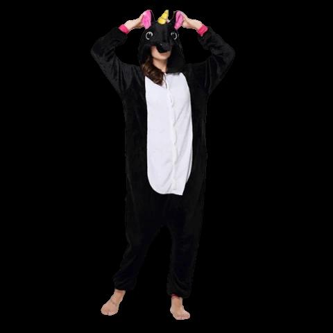 kigurumi licorne noire