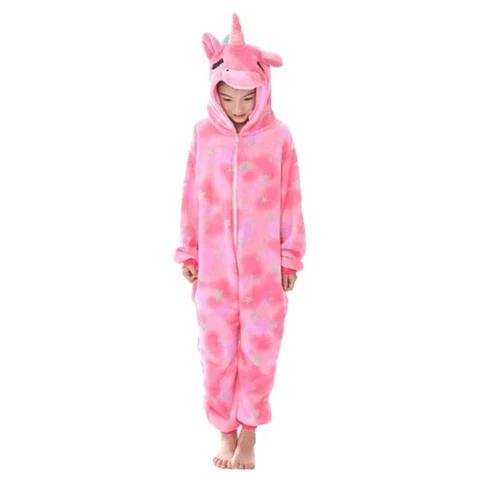 kigurumi pyjama licorne rose enfant