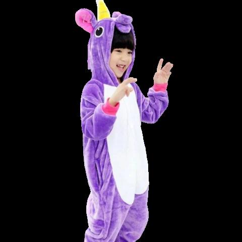 kigurumi licorne violette enfant