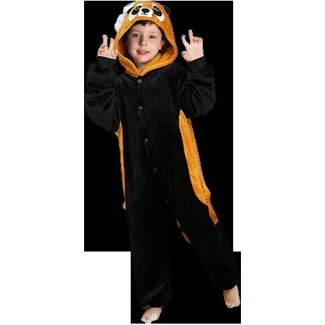 kigurumi panda roux enfant