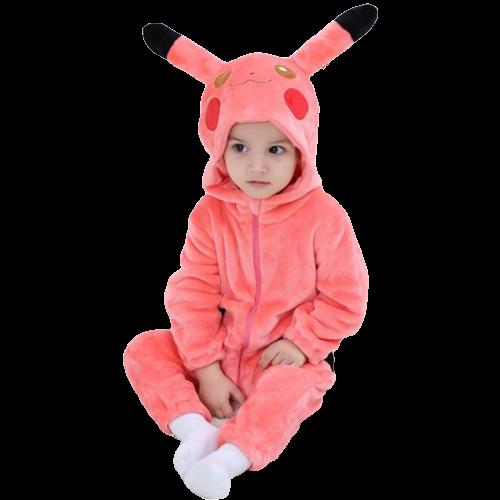 kigurumi pikachu rose bébé