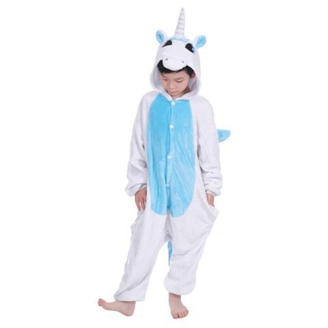 kigurumi licorne blanche et bleue enfant