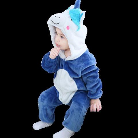 kigurumi pyjama licorne bleue bébé