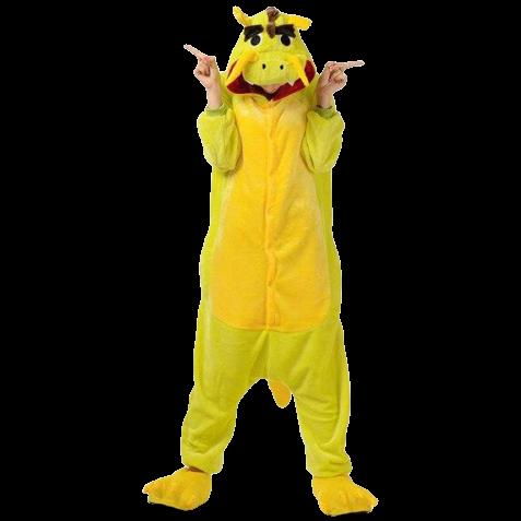 kigurumi dragon jaune