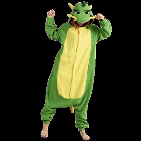 kigurumi dragon vert